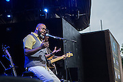Brooklyn-based singer Jason Walker opened for Lucinda Williams with a gospel song.