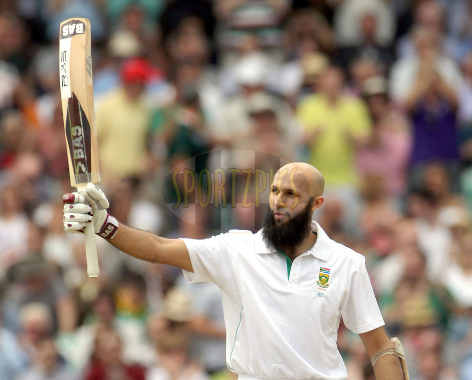 © Andrew Fosker / Seconds Left Images 2012 -South Africa's Hashim Amla celebrates his  hundred , 100, century - England v South Africa - 1st Investec Test Match -  Day 3 - The Oval  - London - 21/07/2012