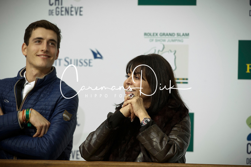 Mr and Mrs Barbancon Mestre, Nicola Philippaerts <br /> Farewell Painted Black<br /> Genève 2015<br /> © Hippo Foto - Dirk Caremans<br /> 11/12/15