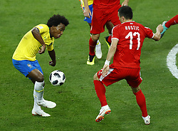 June 27, 2018 - Moscow, Russia - Group E Serbia v Brazil - FIFA World Cup Russia 2018.Willian (Brazil) at Spartak Stadium in Moscow, Russia on June 27, 2018. (Credit Image: © Matteo Ciambelli/NurPhoto via ZUMA Press)