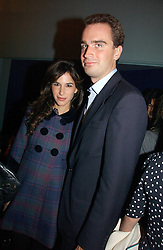 FRITZ VON WESTENHOLZ and CAROLINE SIEBER at a party to celebrate the publication of 'The year of Eating Dangerously' by Tom Parker Bowles held at Kensington Place, 201 Kensington Church Street, London on 12th october 2006.<br />