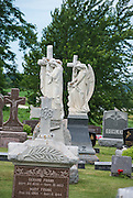 Cemetery scene at St. Gregory Cemetery in St. Nazianz, Wis. (Sam Lucero photo)