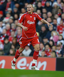 LIVERPOOL, ENGLAND - Saturday, January 26, 2008: Liverpool's Martin Skrtel in action against Havant and Waterlooville during the FA Cup 4th Round match at Anfield. (Photo by David Rawcliffe/Propaganda)
