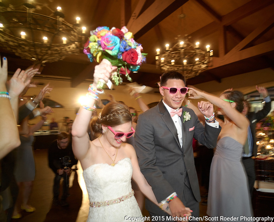 2015/09/18 -- Jessica & Brandon -- Jessica Sigler & Brandon Kwock wedding at Bridges Golf Club in San Ramon, Calif., on Sept. 18, 2015 #OverTheRainbow91815<br /> <br /> Photos by Michael Chen/Scott Roeder Photography