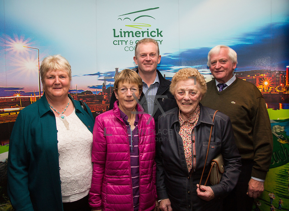 11.10.2016         <br /> Pictured at the Grand Final of the Limerick Going for Gold 2016 Awards were, Marie Mullane, Lil Hartnett, Declan Mullane, Ita Herlihy and Joe Mullane, Strand Community Development Association. Picture: Alan Place