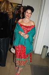 VIVIENNE VENTURA mother of Mrs Zac Goldsmith at a private dinner to unveil the Van Cleef & Arpels jewellery collection 'Couture' with fashion by Anouska Hempel Couture held at The Banqueting House, Whitehall Palace, London on 8th March 2005.<br /><br />NON EXCLUSIVE - WORLD RIGHTS