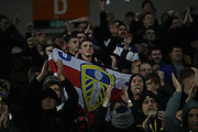 Leeds United football fans, football supporters during the EFL Sky Bet Championship match between Brighton and Hove Albion and Leeds United at the American Express Community Stadium, Brighton and Hove, England on 9 December 2016.