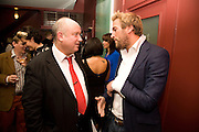 BEN FOGLE; LOUIS DE BERNIERES, Louis de Bernires - party to promote tourism in the Greek islands. GROUCHO CLUB, DEAN ST. LONDON.  12 November 2008.  *** Local Caption *** -DO NOT ARCHIVE -Copyright Photograph by Dafydd Jones. 248 Clapham Rd. London SW9 0PZ. Tel 0207 820 0771. www.dafjones.com