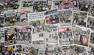 Newspaper headlines the day after the Terrorist attack in Westminster, London in which Khalid Masood killed at least three people.