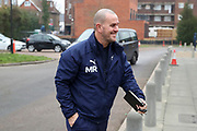 AFC Wimbledon coach Mark Robinson arriving for the game during the EFL Sky Bet League 1 match between AFC Wimbledon and Southend United at the Cherry Red Records Stadium, Kingston, England on 1 January 2020.