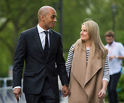 © London News Pictures. FILE PIC DATED 10/05/2015. Labour Party  MP CHUKA AMUNNA has announced that he is to wed his girlfriend ALICE SULLIVAN, a 31 year-old employment lawyer.  The couple announced their engagement in The Times newspaper today (Tues). Pictured  arriving for the Marr Show in London with his partner Alice Sullivan. Photo credit: Ben Cawthra/LNP
