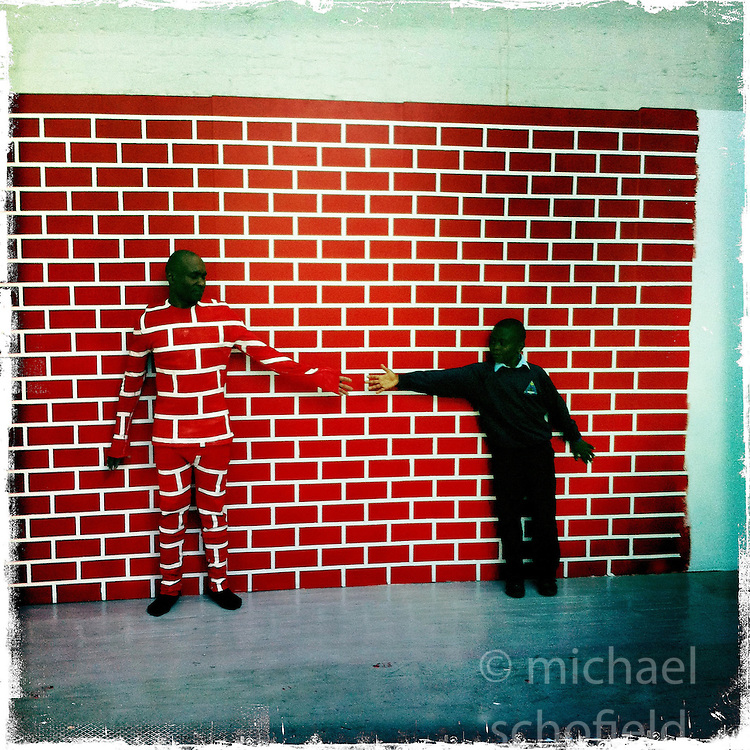Painted photocall..Hipstamatic images taken on an Apple iPhone..©Michael Schofield.
