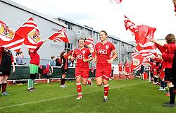 Bristol City Women run out for the second half  - Mandatory by-line: Robbie Stephenson/JMP - 25/06/2016 - FOOTBALL - Stoke Gifford Stadium - Bristol, England - Bristol City Women v Oxford United Women - FA Women's Super League 2