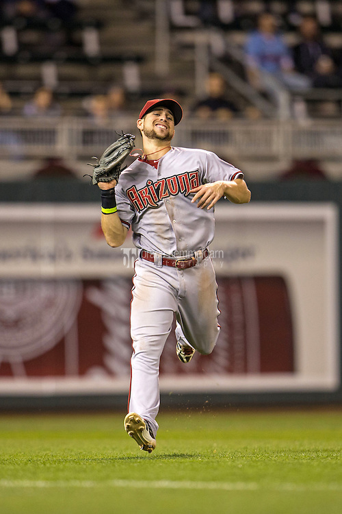 MINNEAPOLIS, MN- SEPTEMBER 23: Ender Inciarte #5 of the Arizona Diamondbacks fields against the Minnesota Twins on September 23, 2014 at Target Field in Minneapolis, Minnesota. The Twins defeated the Diamondbacks 6-3. (Photo by Brace Hemmelgarn) *** Local Caption *** Ender Inciarte