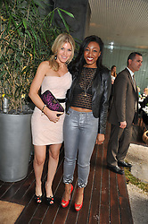 Left to right, HOFIT GOLAN and BEVERLEY KNIGHT at a tea party organised by The Hub Magazine in aid of charity Kids Company held at The Sanderson, Berners Street, London on 2nd May 2012.