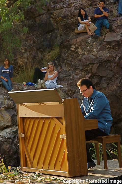 The Festival of the Sun and  Rebirth was celebrated in the unusual, natural setting of El Charco's Canyon in San Miguel de Allende Mexico. During the festival, Dr.Tsalka performed a piano concert playing works by Mozart,Schubert,Chopin,Liszt,Ullmann and Eric Satie.