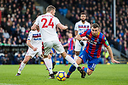Crystal Palace #18 James McArthur, Stoke City (24) Darren Fletcher during the Premier League match between Crystal Palace and Stoke City at Selhurst Park, London, England on 25 November 2017. Photo by Sebastian Frej.