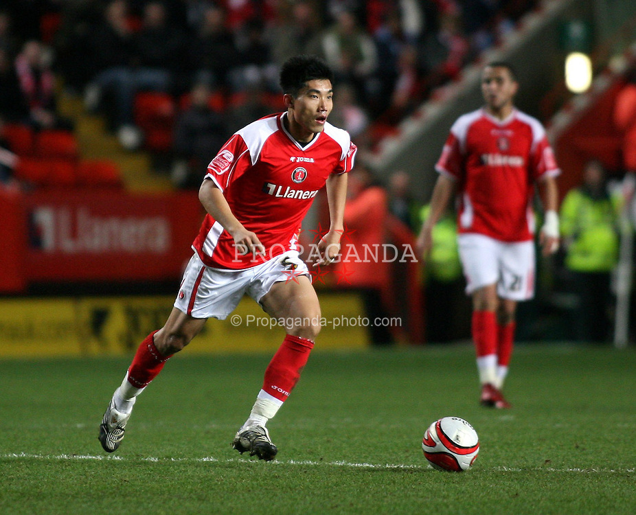 s Zheng Zhi in action against Stoke City during the Coca Cola Championship match at The Valley. (Pic by Chris Ratcliffe/Propaganda)