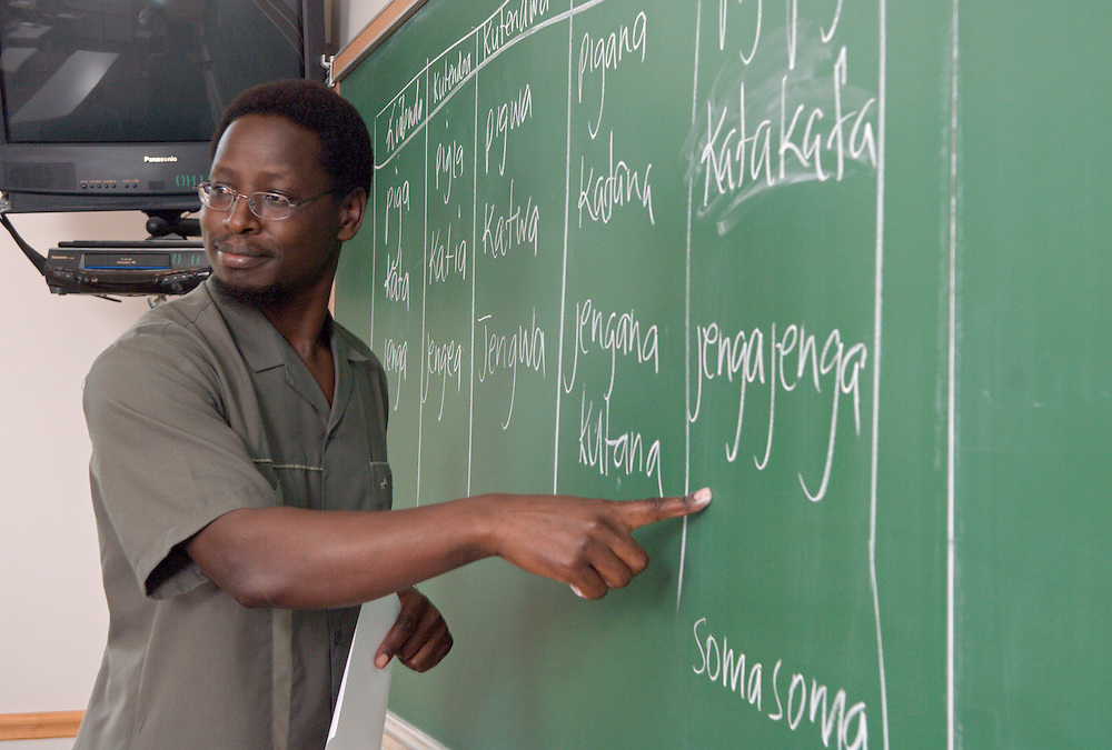 17667Peter Githingi's Swahili class at 3 p.m.in Room 309 Gordy Hall