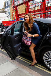 © Licensed to London News Pictures. 16/07/2015. London, UK. Heather Kerzner attending an inquest into the death of Scot Young at Westminster Coroner's Court in London on Thursday, 16 July, 2015. Young, 52, died after becoming impaled on railings after falling 60ft from the window of a luxury penthouse. Photo credit: Tolga Akmen/LNP