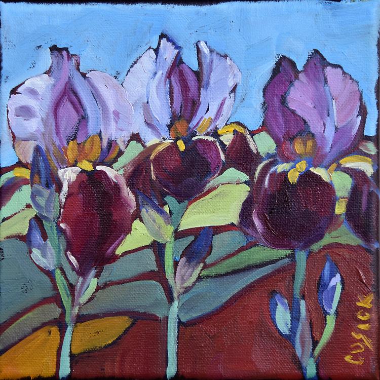 "6""h x6""w x 1.5"" deep, Oil on Linen Canvas"