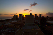 Sunset, twilight, Ala Moana, Honolulu, Oahu, Hawaii