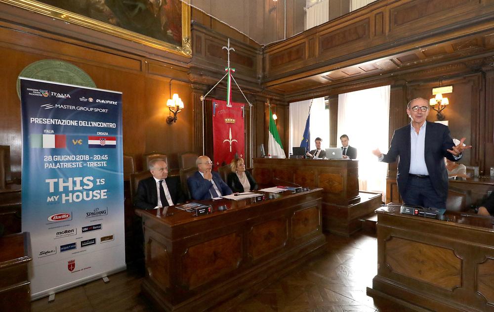 Mario Ghiacci<br /> Conferenza Stampa Presentazione Italia - Croazia FIBA Basketball World Cup 2019 Qualifiers<br /> FIP 2018<br /> Trieste, 07/06/2018<br /> Foto Ciamillo-Castoria