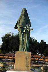 Statue of Saint Clare, Civic Center Park, Santa Clara, California, United States of America.