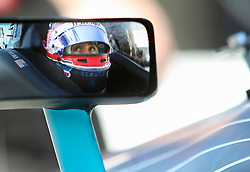 March 9, 2019 - St. Petersburg, Florida, U.S. - DIRK SHADD   |   Times  .Pictured through his sideview mirror, IndyCar driver Colton Herta in the cockpit of his car in pit lane before he takes to the track for an IndyCar practice session at the Grand Prix of St. Petersburg in St. Petersburg on Saturday, March 9, 2019. Herta is a driver for Harding Steinbrenner Racing team which is co-owned by George Steinbrenner IV. (Credit Image: © Dirk Shadd/Tampa Bay Times via ZUMA Wire)