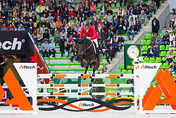 Christian Ahlmann, (GER), Codex One - Team & Individual Competition Jumping Speed - Alltech FEI World Equestrian Games™ 2014 - Normandy, France.<br /> © Hippo Foto Team - Leanjo De Koster<br /> 02-09-14