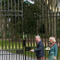 GLAMIS CASTLE, SCOTLAND - APRIL 21 Their Royal Highnesses The Duke and Duchess of Rothesay officially open the Queen Mother Memorial Gates at Glamis Castle