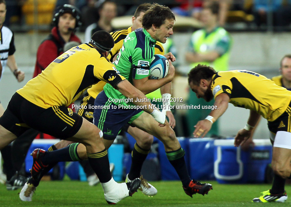 Highlanders' Ben Smith in action during the 2012 Super Rugby season, Hurricanes v Highlanders at Westpac Stadium, Wellington, New Zealand on Saturday 17 March 2012. Photo: Justin Arthur / Photosport.co.nz