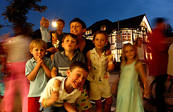 KNOKKE, BELGIUM - JULY-28-2005 -  Ice cream at La Post Glacier is a nightly tradition on the Zoute. (Photo © Jock Fistick)