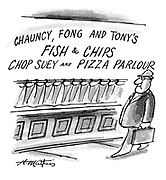 (Chauncy, Fong and Tony's fish and chips, chop suey and pizza parlour)