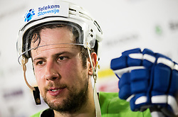 Mitja Robar of Slovenia after the 2017 IIHF Men's World Championship group B Ice hockey match between National Teams of Slovenia and Norway, on May 9, 2017 in Accorhotels Arena in Paris, France. Photo by Vid Ponikvar / Sportida