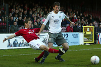 Photo: Aidan Ellis.<br /> York City v Bristol City. The FA Cup. 11/11/2006.<br /> York's Anthony Lloyd tackles Cole Skuse