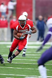 27 October 2007:  Geno Blow steps left to avoid the defense. The Western Illinois Leathernecks beat up on the Illinois State Redbirds  27-14 at Hancock Stadium on the campus of Illinois State University in Normal Illinois.