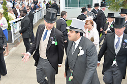 Left to right, LORD EDWARD SPENCER-CHURCHILL and SHEIK HAMAD BIN ABDULLAH AL-THANI at the Investec Derby 2015 at Epsom Racecourse, Epsom, Surrey on 6th June 2015.