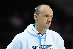 Jure Zdovc, head coach of Slovenia during friendly match between National Teams of Slovenia and New Zealand before World Championship Spain 2014 on August 16, 2014 in Kaunas, Lithuania. Photo by Vid Ponikvar / Sportida.com