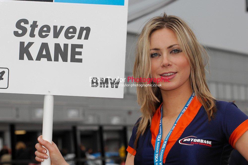 2008 British Touring Car Championship.Donington Park, Derby, United Kingdom. 3rd-4th May 2008..Motorbase Performance Grid Girl.World Copyright: Peter Taylor/PSP
