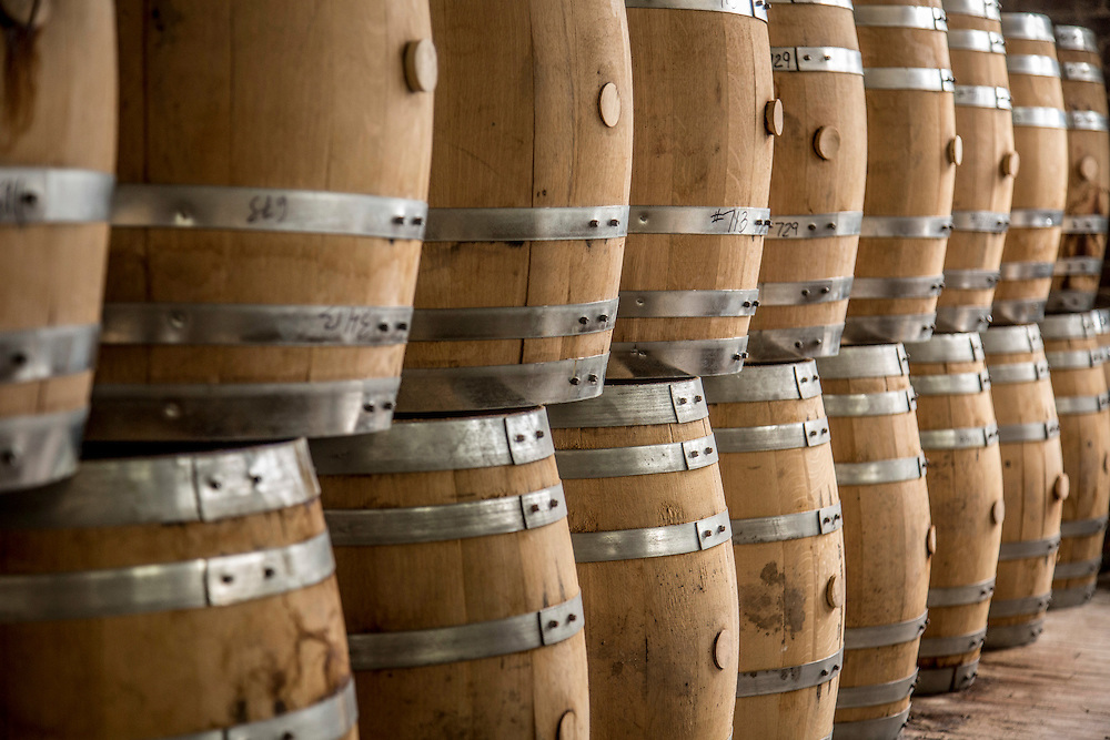Barrels at Kings County Distillery in the Brooklyn borough of New York, June 27, 2013. Gary He/DRAMBOX MEDIA LIBRARY
