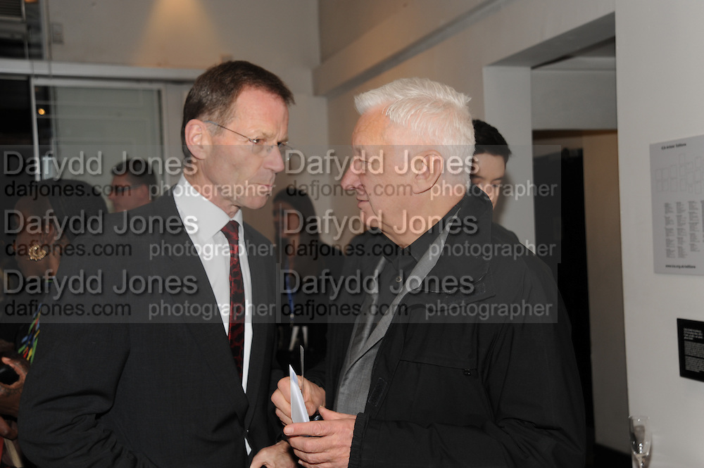 SIR NICHOLAS SEROTA; MICHAEL CRAIG-MARTIN, Vanity Fair  hosted  UK Premiere and party for Beyond Time. A film about the artist William Turnbull made by his son Alex Turnbull. Narrated by Jude Law. I.C.A. London. 17 November 2011<br /> <br />  , -DO NOT ARCHIVE-© Copyright Photograph by Dafydd Jones. 248 Clapham Rd. London SW9 0PZ. Tel 0207 820 0771. www.dafjones.com.
