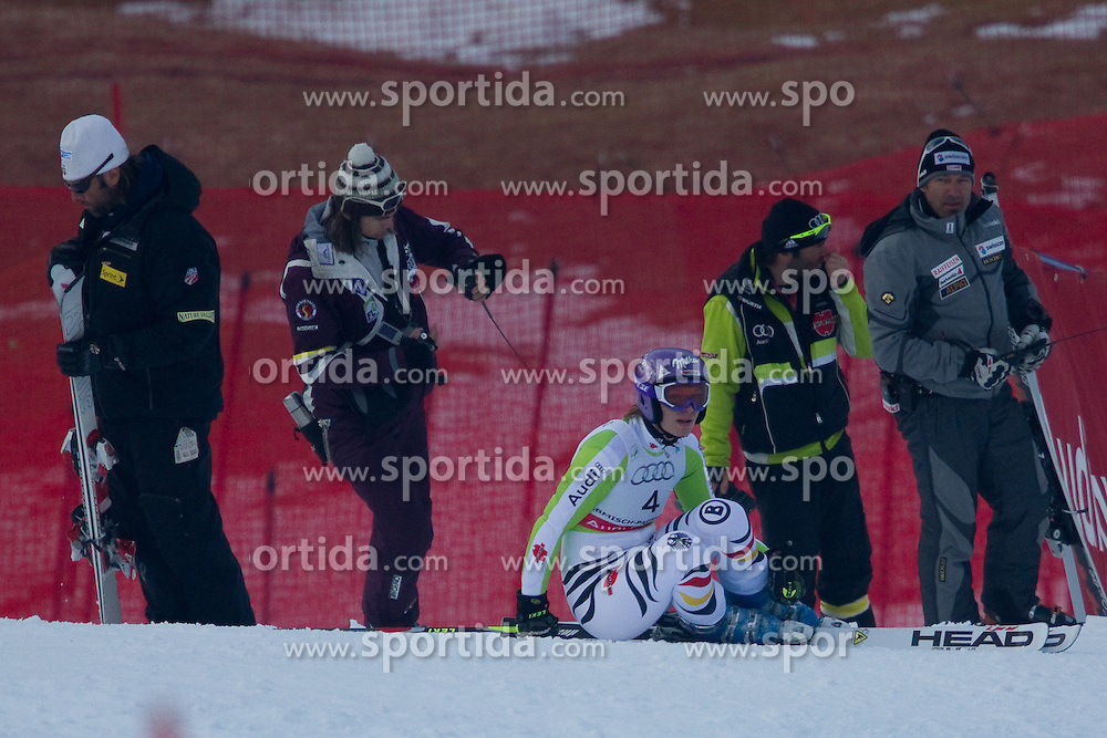 17.02.2011, Kandahar, Garmisch Partenkirchen, GER, FIS Alpin Ski WM 2011, GAP, Riesenslalom, im Bild Ausfall Maria Riesch (GER) // non-departure Maria Riesch (GER) during Giant Slalom Fis Alpine Ski World Championships in Garmisch Partenkirchen, Germany on 17/2/2011. EXPA Pictures © 2011, PhotoCredit: EXPA/ M. Gunn