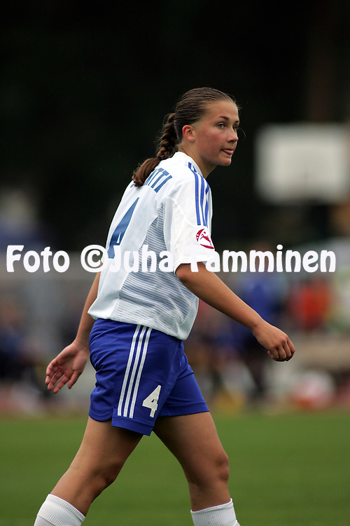 28.07.2004, Hyvink??, Finland..UEFA Women's Under-19 European Championship.Group A, Finland v Germany.Peppiina Pentti - Finland.©Juha Tamminen.....ARK:k