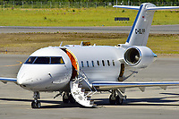A Flightpath Charter Airways Bombardier Challenger 604 business jet visits Erik Nielsen Whitehorse International Airport