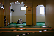 10 years ago, on 27 October 2005 riots broke out in the French suburbs.  It started here with the death of two boys, in Clichy sous Bois, 15 km from Paris, an economically deprived suburb. A makeshift mosque in the appartment complex Chene Pointu. 21 January 2015, Clichy sous Bois, France.