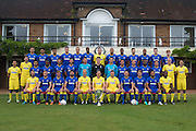 at the AFC Wimbledon Team Photo 02AUG16 at the Cherry Red Records Stadium, Kingston, England on 2 August 2016. Photo by Stuart Butcher.