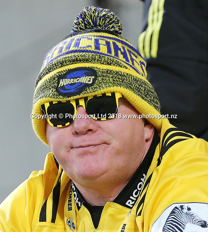 Fans. Hurricanes V Chiefs. Super Rugby round 8 at Westpac Stadium, Wellington. 13th April 2018. © Copyright Photo: Grant Down / www.photosport.nz