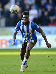 Wigan Athletic's Sheyi Ojo in action - Photo mandatory by-line: Richard Martin-Roberts/JMP - Mobile: 07966 386802 - 07/03/2015 - SPORT - Football - Wigan - DW Stadium - Wigan Athletic v Leeds United - Sky Bet Championship