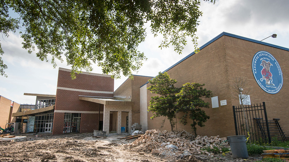 Kashmere High School construction, March 28, 2017.